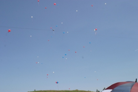 balloons were released into the air as we sang 'Happy Birthday'